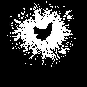 Tintenfleck Huhn