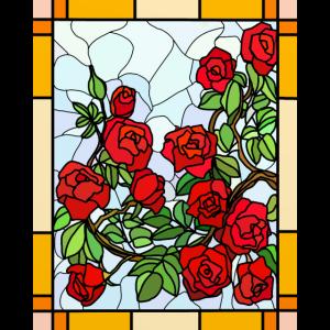 Glasmalerei Rosen