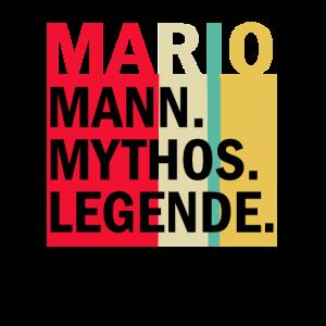Herren Retro Mario Mann Mythos Legende Geburtstag