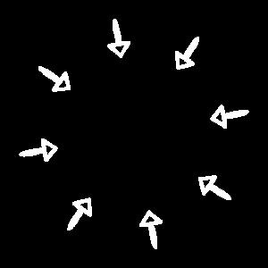Kreis Pfeil nach innen Dekoration