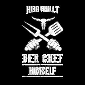 Grillen Grillmeister Hier grillt der Chef himself