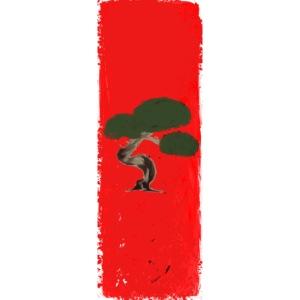 bonsai red scene
