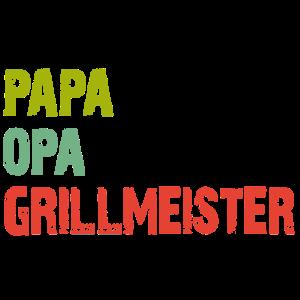 Papa Opa Grillmeister | Opa grillt | Papa grillt