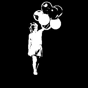 Ballon Girl Streetart dunkle Farben