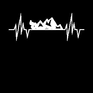 Mountainbike Heartbeat Line MTB Geschenk