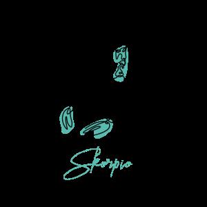 Skorpio Zodiac Sign Line Art