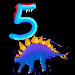 Stegosaurus 5 Jahre alt Geburtstag Dinosaurier