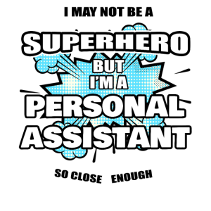 Persönlicher Assistent Geschenk Superheld Persönlicher Assistent