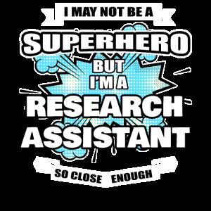 Wissenschaftlicher Mitarbeiter Geschenk Superheld Forschungsassistent