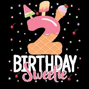 2. Geburtstag Sweetie Ice Cream Girl 2 Jahre alt