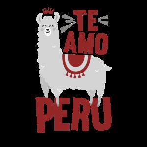 Ich liebe Peru - Te amo Peru drucken Slim Fit Produkt