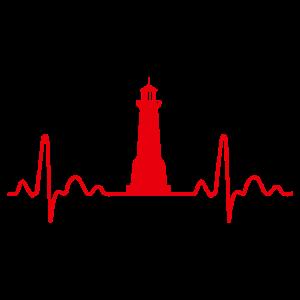 Heartbeat Lighthouse Sailor Sailor Geschenkidee