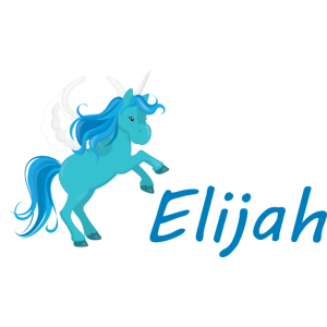 Elijah Blue Unicorn