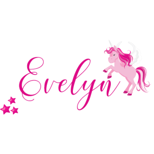 Evelyn rosa Einhorn