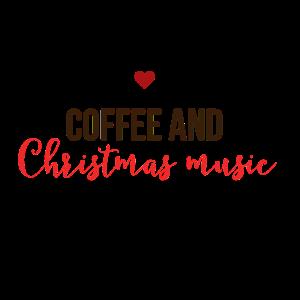 Kaffee und Weihnachtslieder Weihnachten