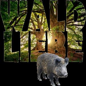 waldliebe mit wildschwein