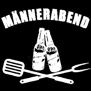 MAeNNERABEND BIER GRILL DESIGN GESCHENK MANN BBQ