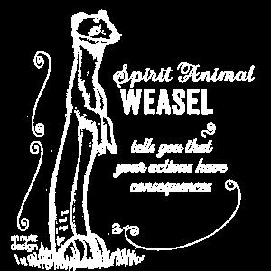 SPIRIT ANIMALS / Krafttier - Wiesel - weiss