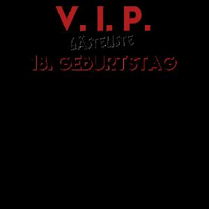 V. I. P. Gästeliste 18. Geburtstag bitte eintragen