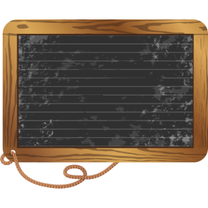 leere schwarze Schiefertafel zum beschriften
