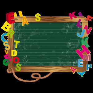Schultafel für eigene Beschriftung mit Buchstaben