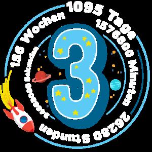 Kind Drei Jahre - Dritter Geburtstag - 3 1095 Tage
