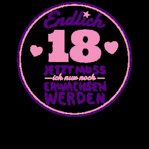 18. Geburtstag Mädchen Geschenk 18 Jahre erwachsen