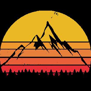 Berge Retro Vintage Berg