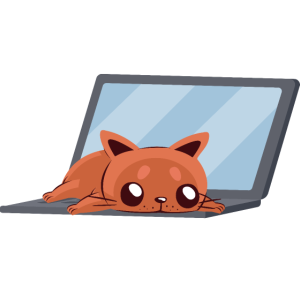 Admin Katze I Work on Computers