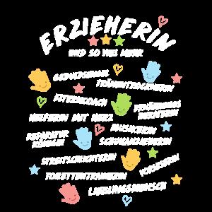 Erzieherin Spruch Shirt Geschenk Kindergarten