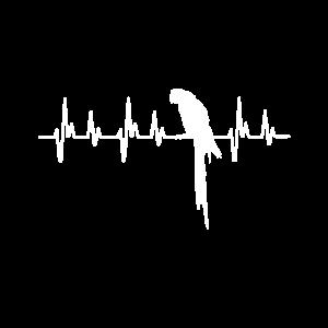 Papagei Papageien Shirt Herzschlag Parrot Vogel