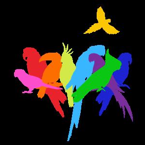 Papagei Papageien Shirt Wellensittich Parrot Vögel