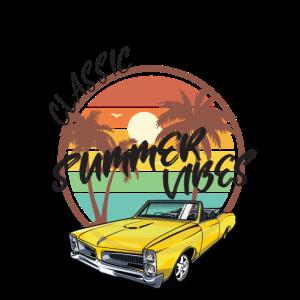 "Vintage Retro Design Logo Auto ""Summer Vibes"""