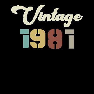 Geboren 1981 Geburtstagsgeschenk Vintage 1981