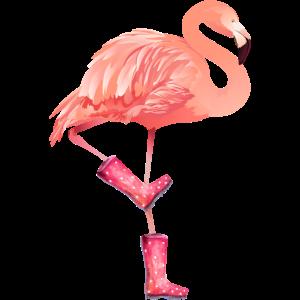 Flamingo-Liebhaber, rosa Flamingo, Flamingo-rosa Stiefel