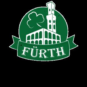 Fürth Logo Label Kreis Rathaus Kleeblatt
