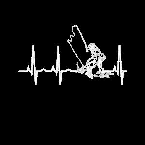 Fishing Heartbeat TShirt Bestes GeschenkShirt fr