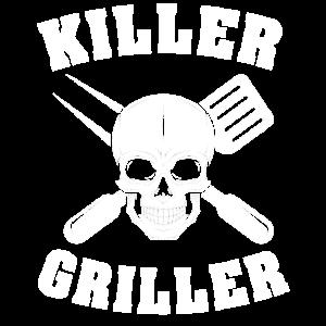grillen Griller Grillmeister Totenkopf