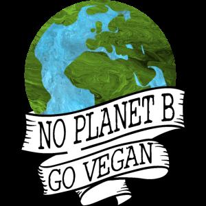 NO PLANET B GO VEGAN