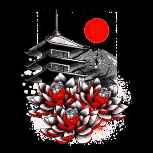 Asiatisch Geisha Japan Lotus