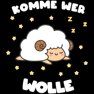 Schaf Schlaf Schlafanzug Tier Motiv