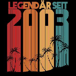 Legendär seit Juni 2003 achtzehnter 18. Geburtstag