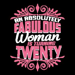 20 Geburtstag Fabelhaft Geschenk für Frauen