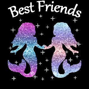 Best Friends Beste Freundin Meerjungfrau Geschenk