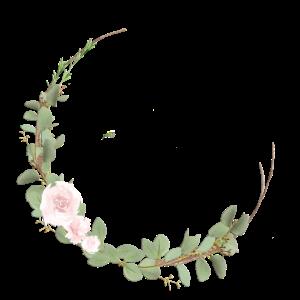 Floraler Kranz mit Blumen