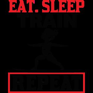 Eat Sleep Train Repeat - Glide Fit - Black