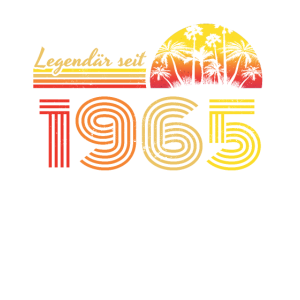 55. Geburtstag Legendär Seit 1965 Vintage Retro Ge