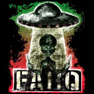 FAHQ - Fuck you - Alien Streetart