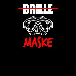 Tauchen -Brille Maske T-Shirt