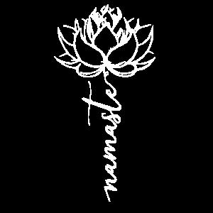 Namaste Lotusbluete Lotus Blüte Yoga